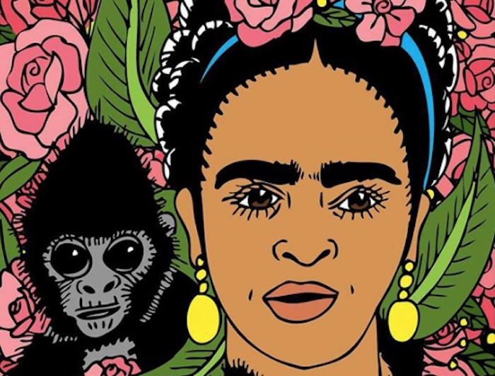 Frida Kahlo. Art by Regina Morales.