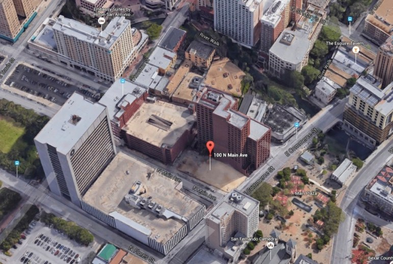 Site map of the proposed hotel and office tower at 100 N. Main Avenue. Image courtesy of JRK Design.