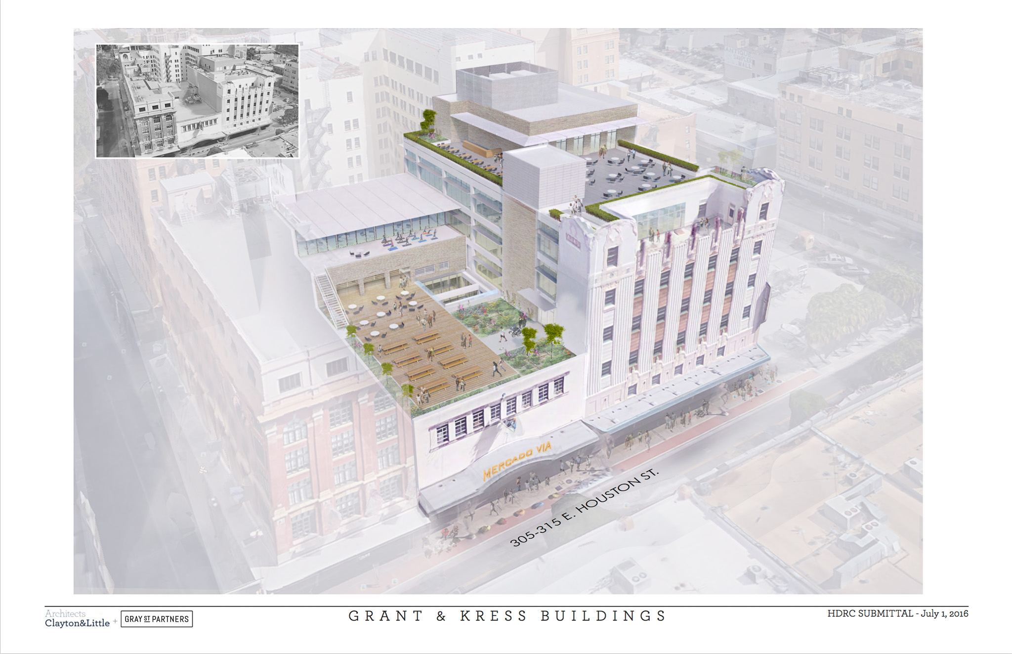 Grant & Kress Buildings. Rendering by Clayton&Little Architects courtesy of Gray St Partners.