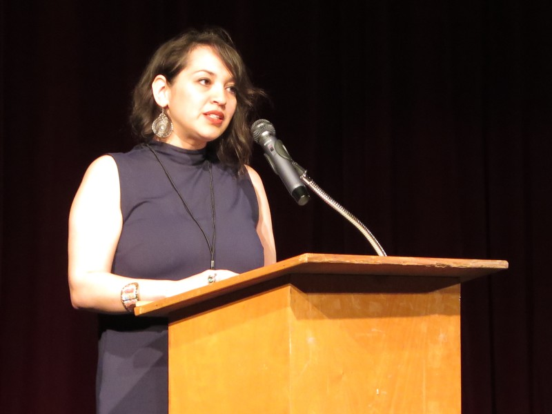 Texas Poet Laureate and former San Antonio Poet Laureate Laurie Ann Guerrero is head of the Guadalupe's Macondo Writers' Workshop. Photo by Camille Garcia.
