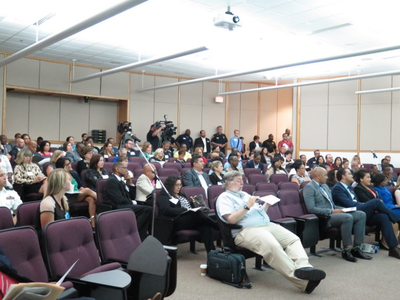 Around 80 people attend the My Brother's Keeper Texas Summit at UTSA Downtown Campus. Photo by Rocío Guenther.