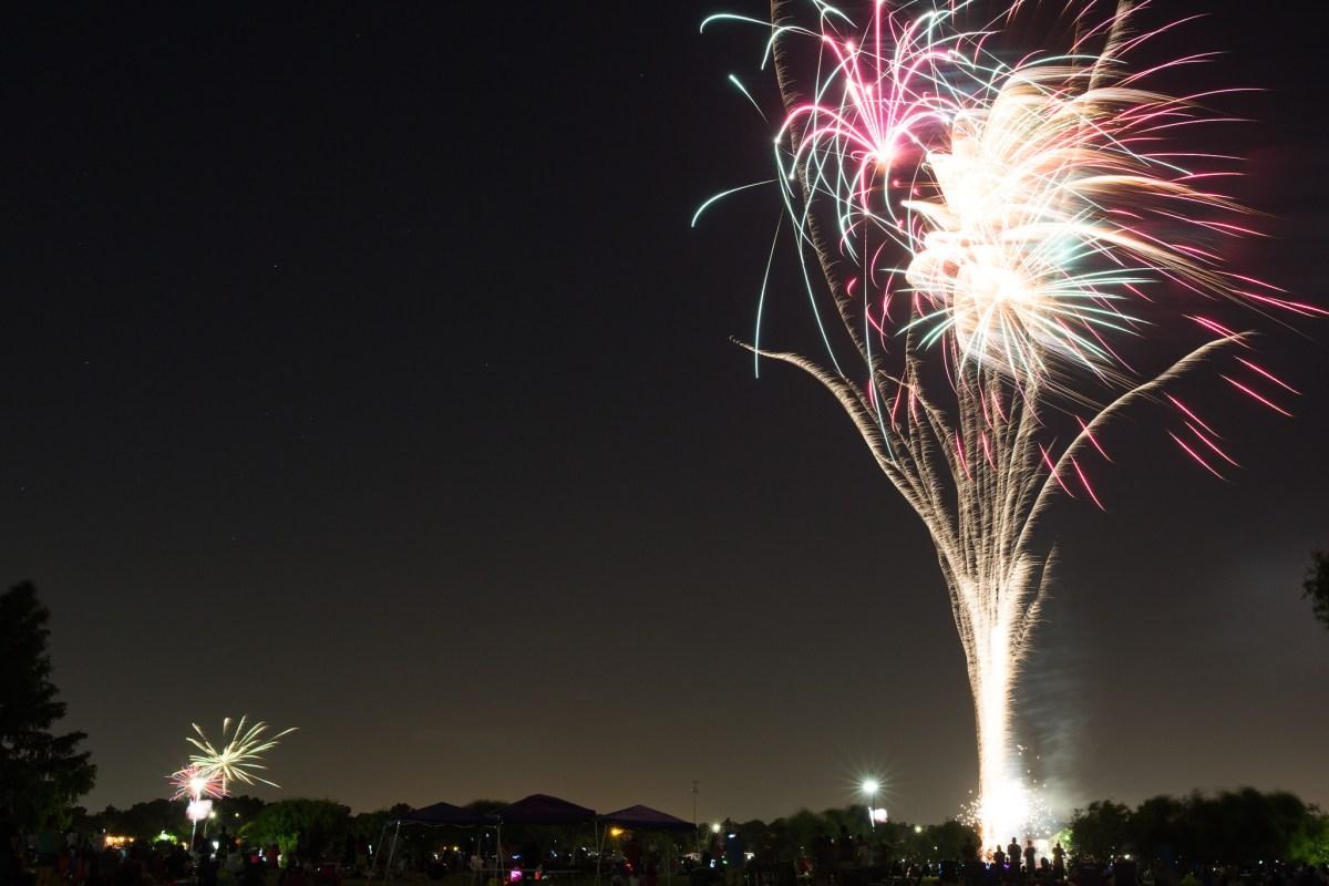 The H-E-B Extravaganza Firework show at Woodlawn Lake Park. Photo by Scott Ball.
