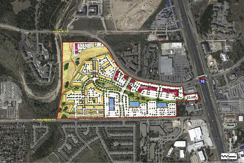 Site map for 114 acres near UTSA. Image courtesy of Steve Sanders.