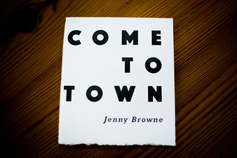 San Antonio Poet Laureate Jenny Browne's newest book, Welcome to Freetown. Photo by Kathryn Boyd-Batstone.
