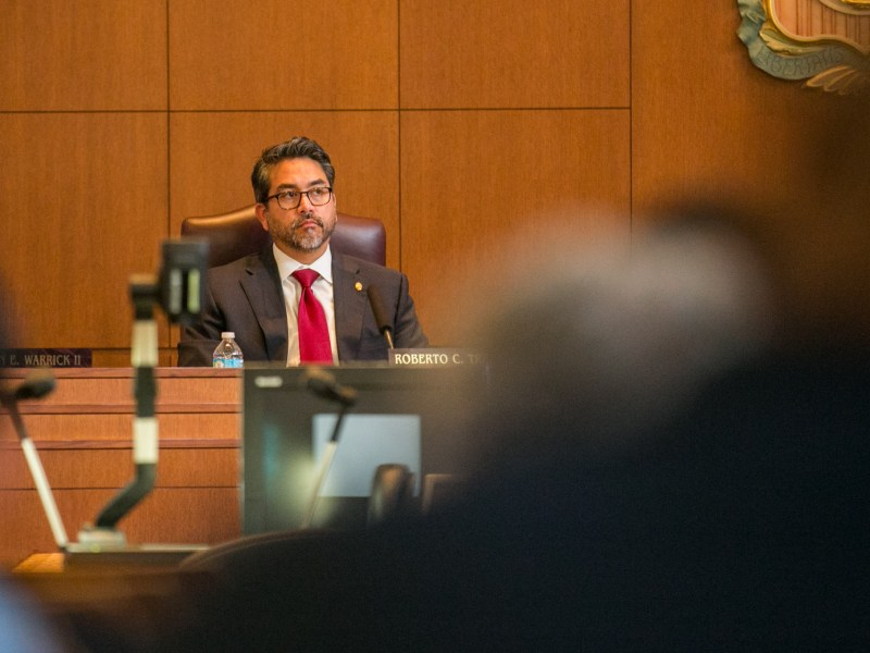 Councilman Roberto Treviño (D1) submitted two amendments to the SA Tomorrow plan that re-introduced language concerning the Dark Skies Ordinance and impervious cover restrictions. Photo by Kathryn Boyd-Batstone.
