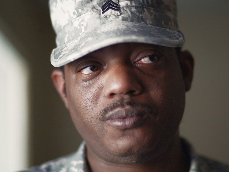 Fredrick Gardner is one of many formerly homeless veterans in San Antonio. Photo by Kathryn Boyd-Batstone.