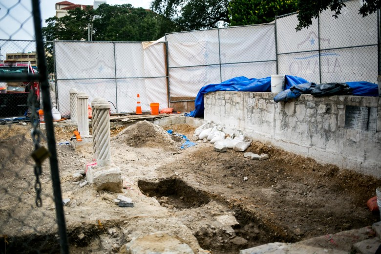 The site of part of the south wall of the original Alamo complex. Photo by Kathryn Boyd-Batstone.