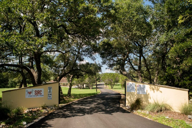 The entrance to the St. Jude's Ranch for Children in Bulverde. Photo by Kathryn Boyd-Batstone.