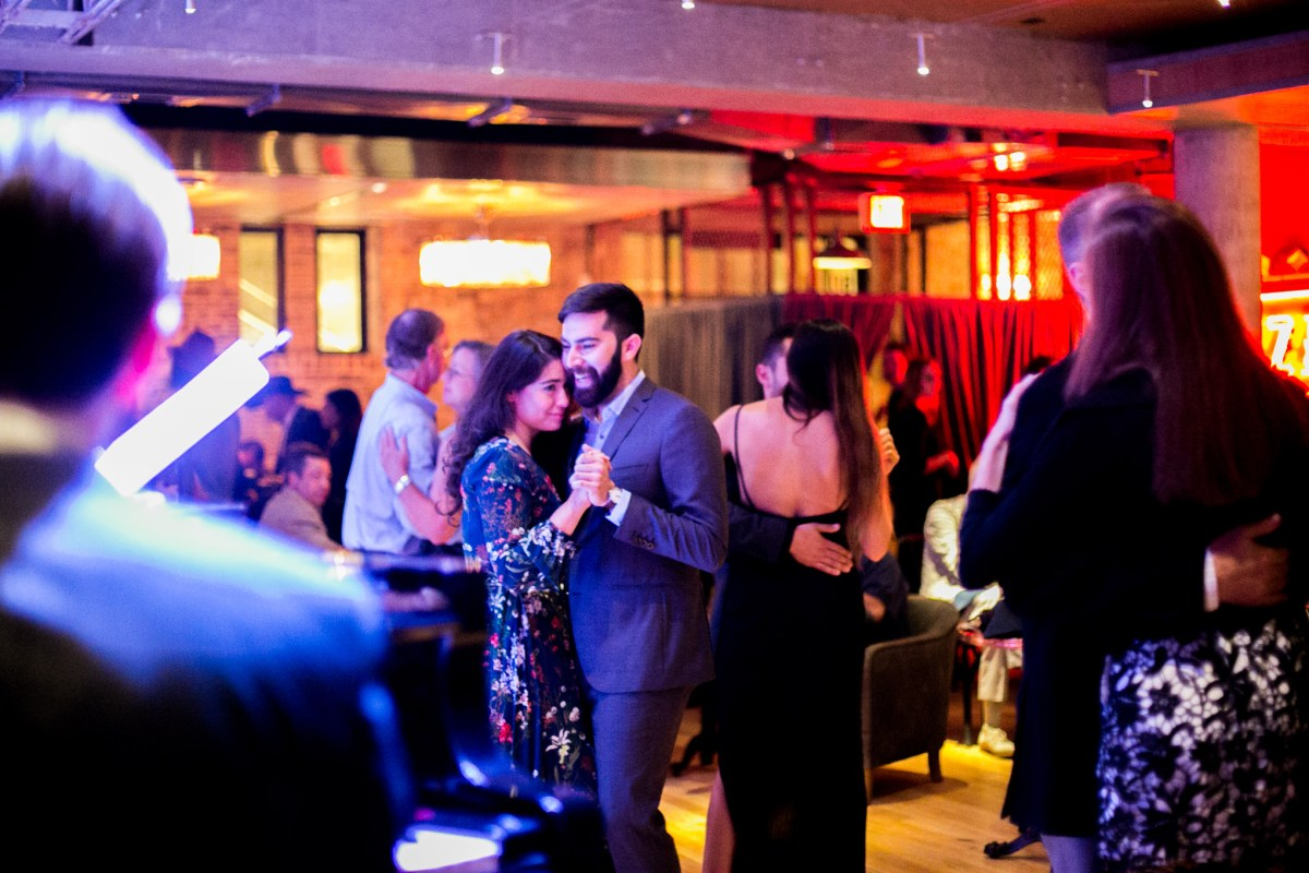 Couples take to the dance floor during the Jazz, TX soft opening. Photo by Kathryn Boyd-Batstone.