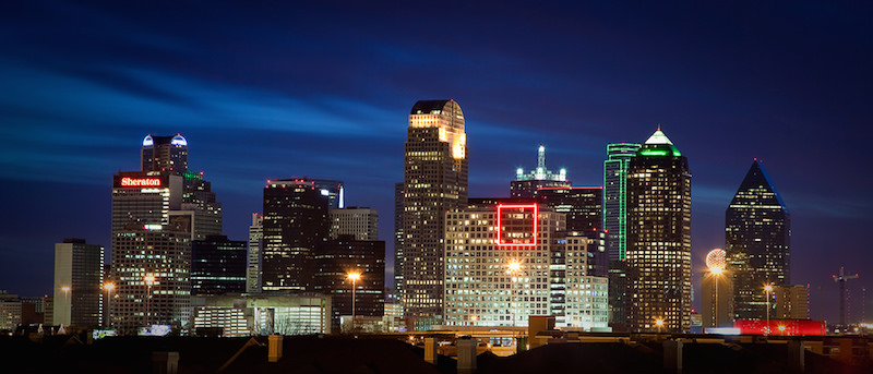 Dallas skyline. Photo by Dustin Askins via Flickr.