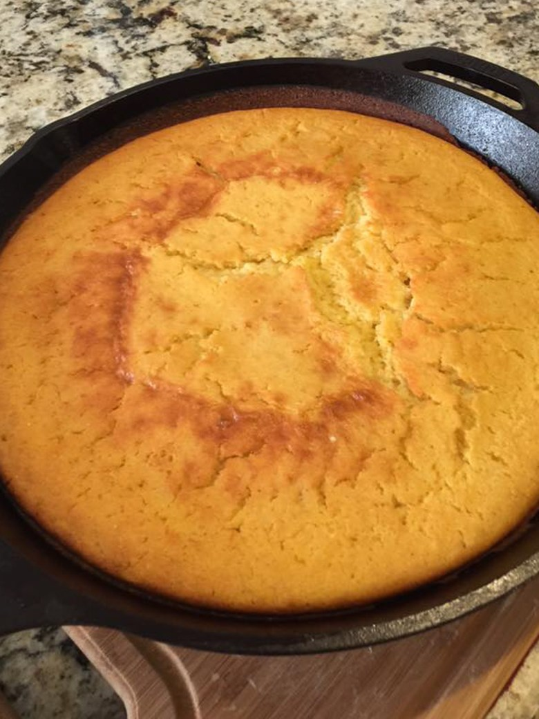 Skillet cornbread. Photo courtesy of Arrie Porter.