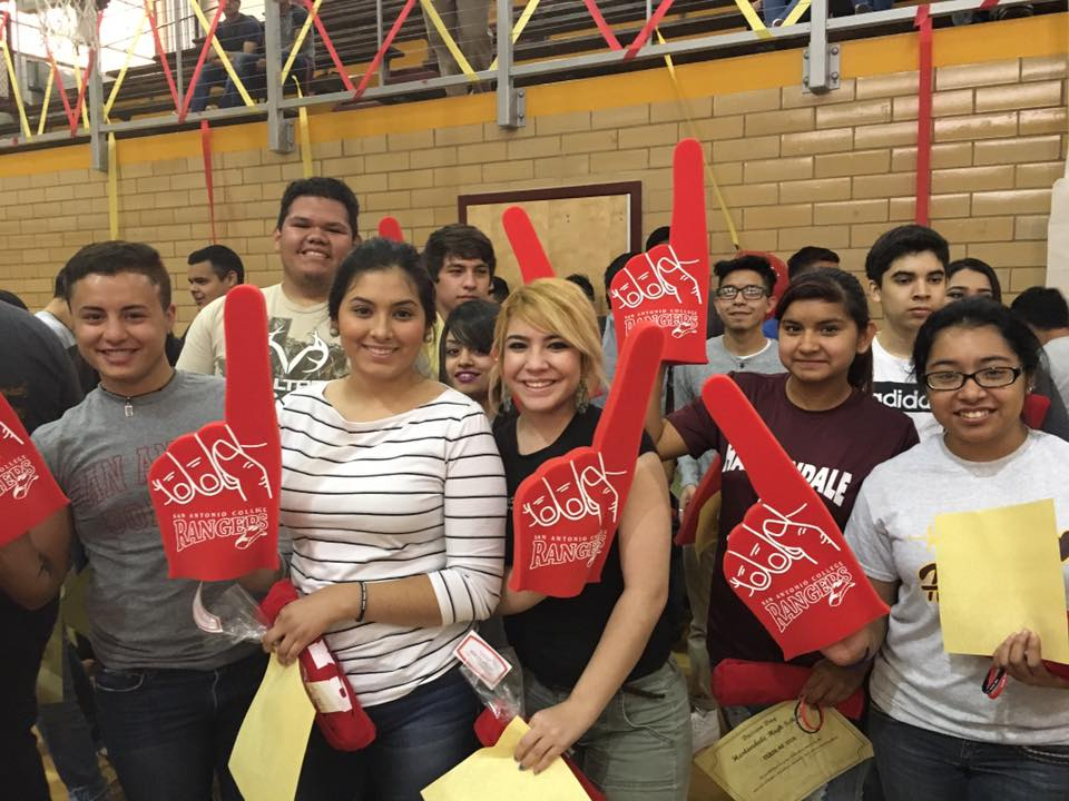 Harlandale seniors committed to San Antonio College at the city-wide College Signing Day held at the Alamo Convocation Center on May 6, 2016. Photo courtesy of San Antonio College.