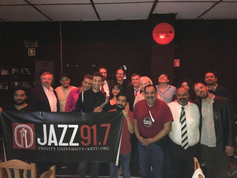 The witness's of Maroto and the first night of the Mexico City Jazz Tours at The Jazz Place.  Photo courtesy of Jorge Canavati