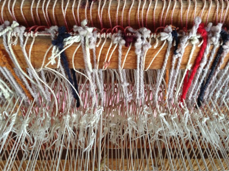 Benito weaves masterpieces on a loom built by his own grandfather. Photo by Kimberly Suta.