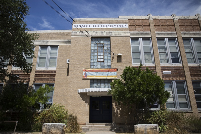 Russell Lee Elementary in Austin is one of 10 Texas schools that will bear new names when classes begin later this month. Photo by Qiling Wang for the Texas Tribune.