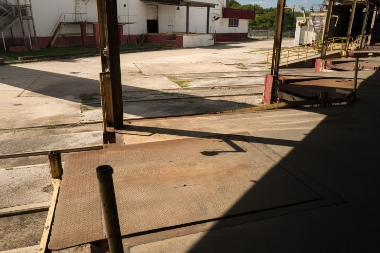 Existing loading docks will remain intact and used for seating for nearby restaurants. Photo by Scott Ball.