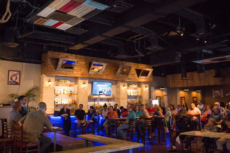 Doc Browns which is normally closed on Monday's opened up to host Place Changing: Annexation. Photo by Scott Ball.