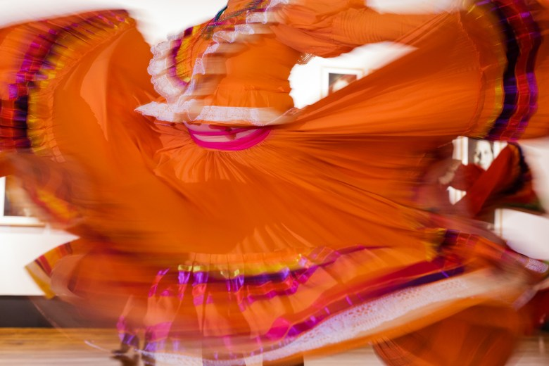 Guadalupe Dance Company dancer Marlene Pita dances during the event. Photo by Scott Ball.
