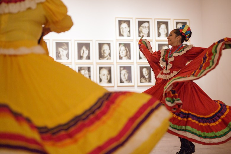 Guadalupe Dance Company dancer Connie Espinoza dances during the event. Photo by Scott Ball.