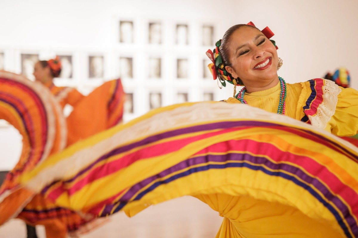 Guadalupe Dance Company dancer Jeannette Chavez dances during the event. Photo by Scott Ball.