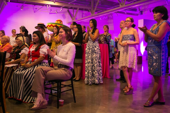 2018 community partners clap as the historical implications of San Antonio Tricentennial are explained. Photo by Kathryn Boyd-Batstone.