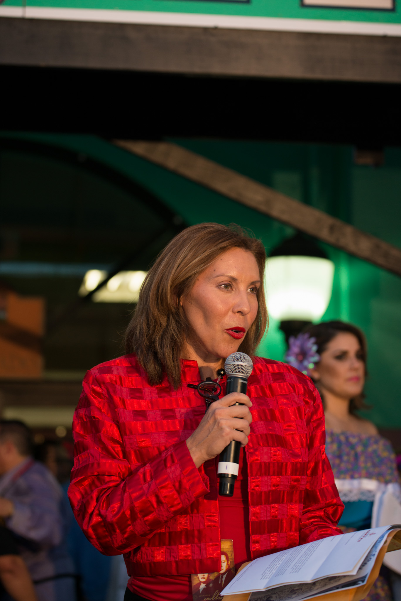 Councilwoman Shirley Gonzales (D5) speaks to the crowd. Photo by Anthony Francis.