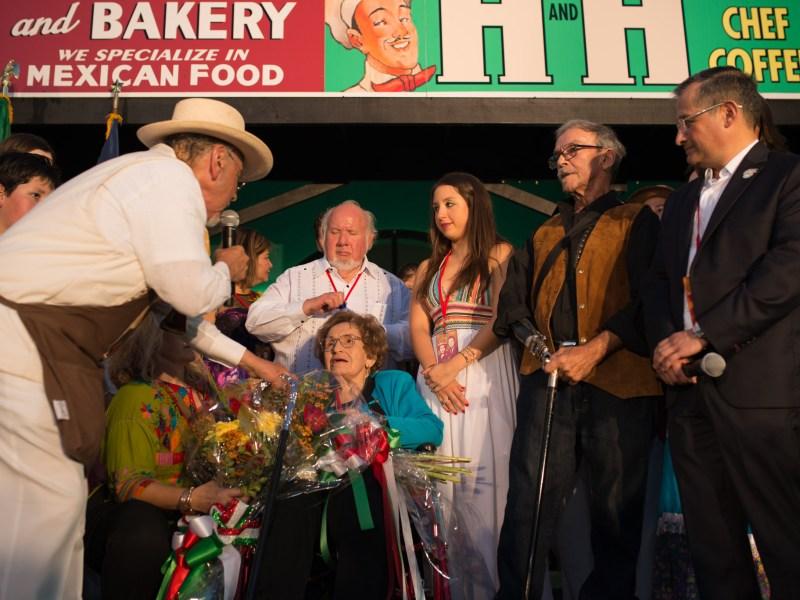 Jorge Cortez celebrates Matriarch Cruz Cortez's, 95, legacy. Photo by Anthony Francis.