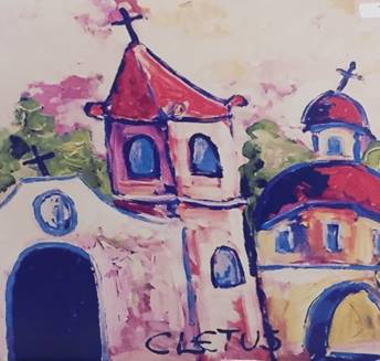 Mission San Jose by Brother Cletus Behlmann. Image courtesy of the Ecumenical Center.