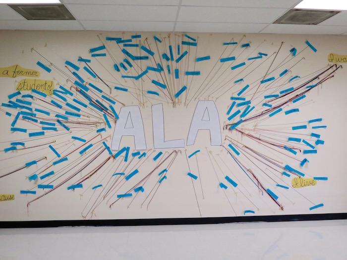 An idea board adorns a wall at ALA.  Photo by Daniel Kleifgen.