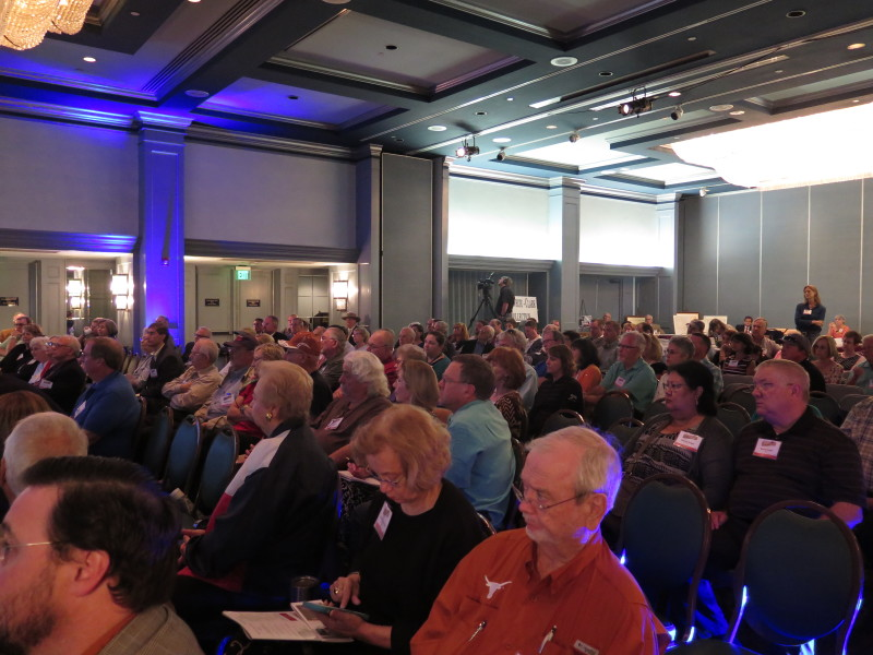 The audience at the Texas History Symposium listens to updates about the Alamo Master Plan. Photo by Rocío Guenther.