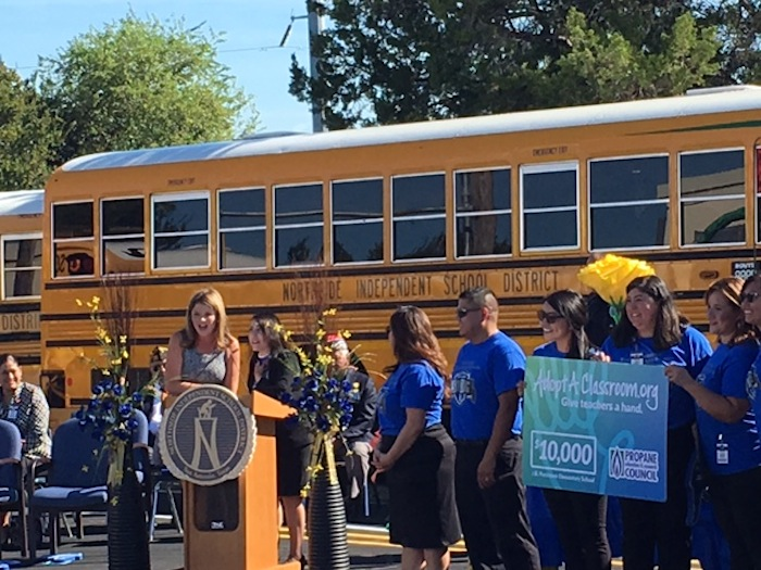 Jenna Bush Hager surprises Passmore Elementary School teachers with a $10,000 grant. Photo by Bekah McNeel.
