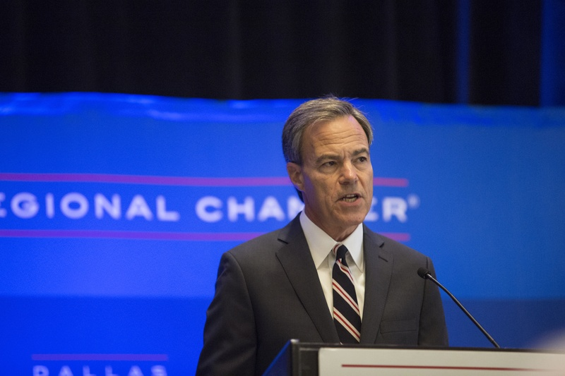Joe Straus, Texas Speaker of the House, speaks at an 85th Legislation Session Preview at the Dallas Regional Chamber on Tuesday, Sep. 13, 2016. Photo by Laura Buckman for The Texas Tribune.