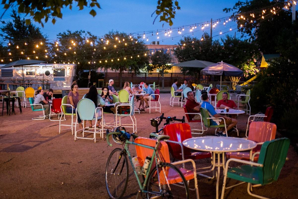 Bikes at Burleson Yard. Photo by Kathryn Boyd-Batstone.
