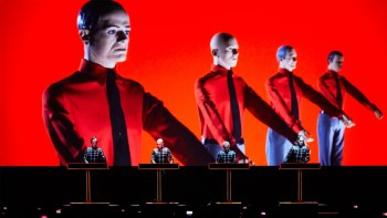Kraftwerk, one of the world's most influential electronic band, performs at the Tobin Center of the Performing Arts on Sept. 12. Photo courtesy of the Tobin Center for the Performing Arts.