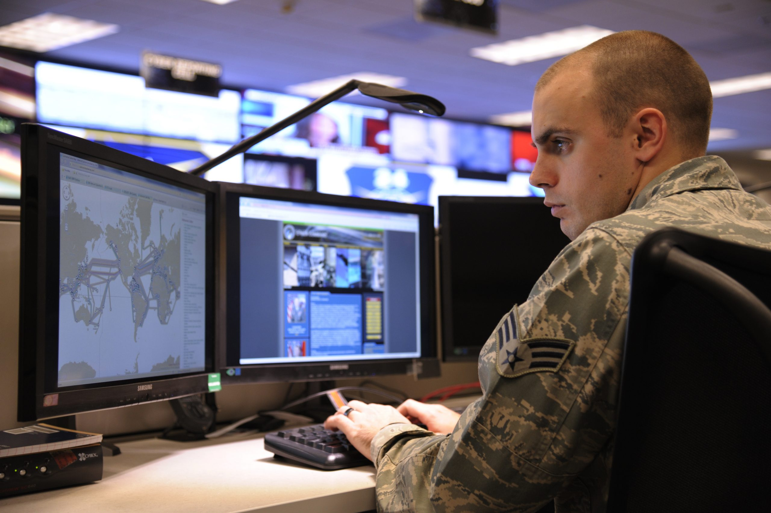 Nearly 1,000 cybersecurity experts—uniformed and civilian—are employed by the 24th Air Force within the Port San Antonio campus. Courtesy U.S. Air Force photo.