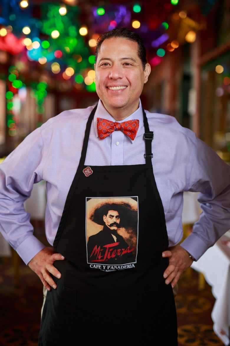 Michael Cortez has been serving Mi Tierra for 38 years. Photo by Scott Ball.