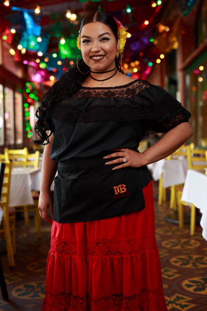 Jerrianne Moreno has served Mi Tierra for five years. Photo by Scott Ball.