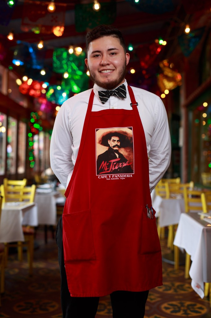 Juan Macias has served Mi Tierra for two years. Photo by Scott Ball.