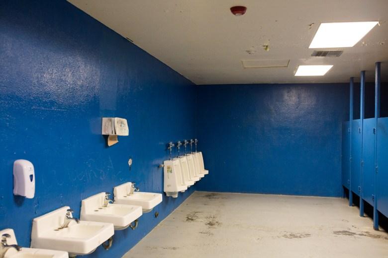 The mens restroom at Lanier High School. Photo by Scott Ball.
