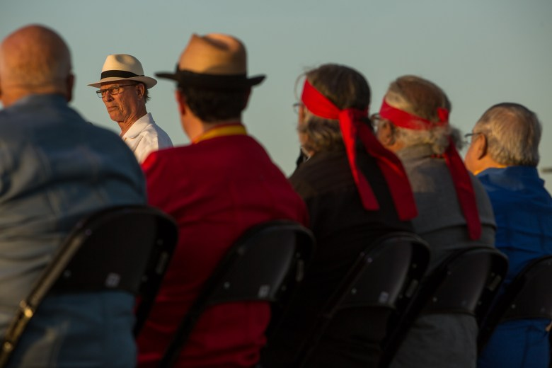County Judge Nelson Wolff speaks at the groundbreaking of San Pedro Creek. Photo by Scott Ball.