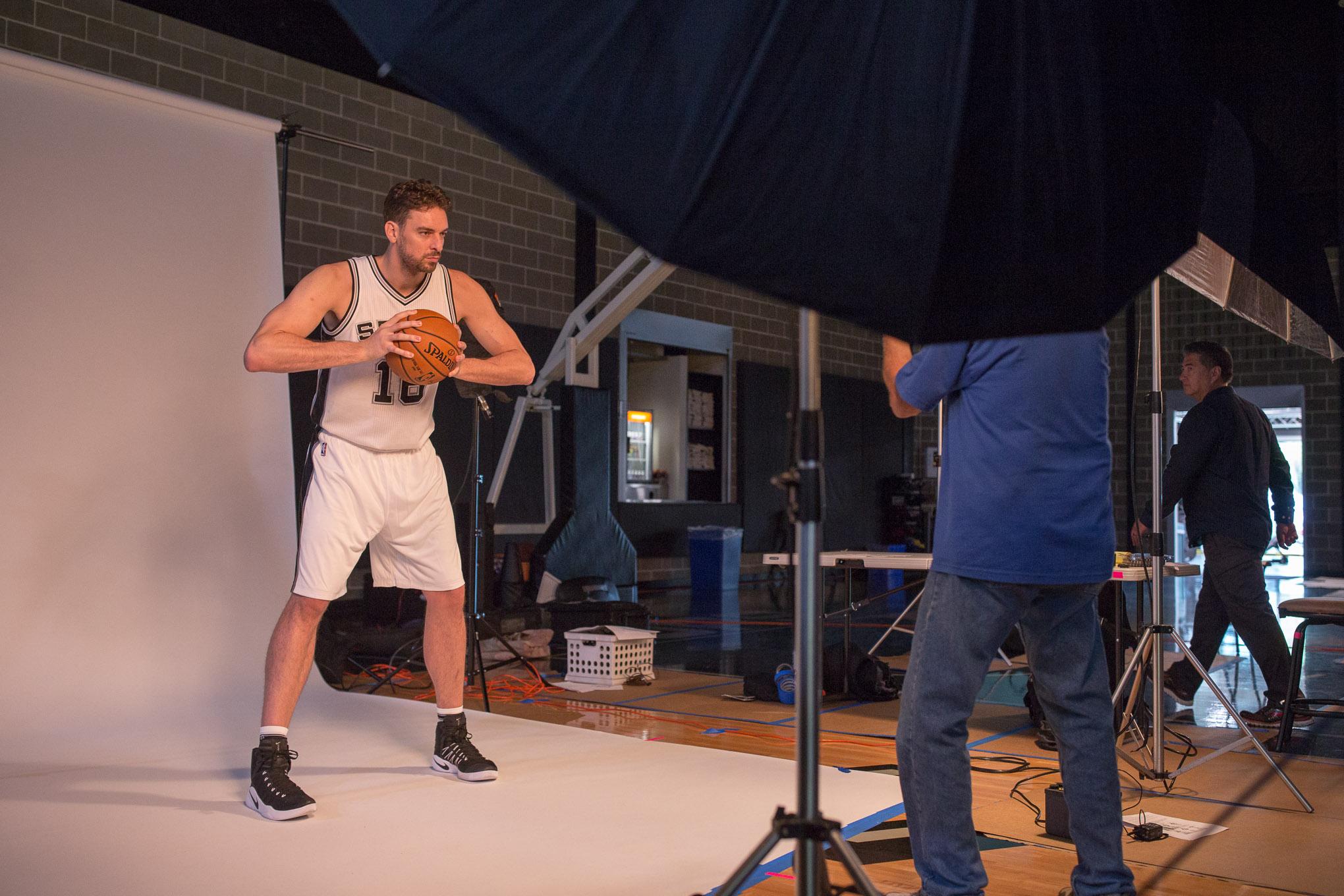 Spurs Center Pau Gasol poses for a portrait. Photo by Scott Ball.