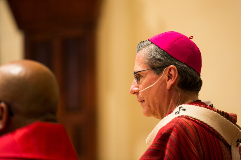 Archbishop Gustavo García-Siller welcomes everyone to Red Mass. Photo by Kathryn Boyd-Batstone.