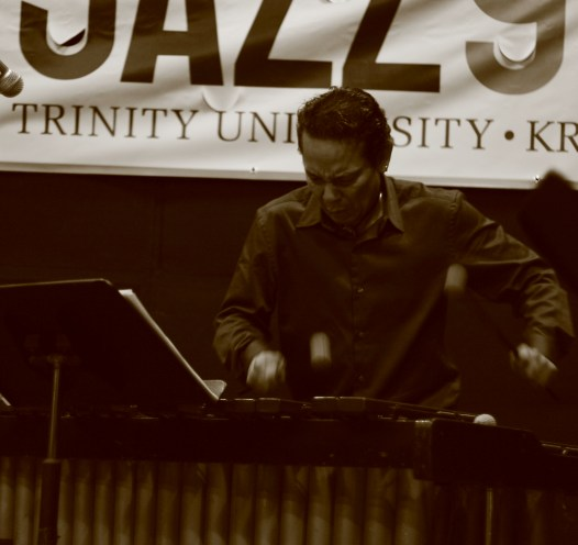 Toro in action at a 91.7 KRTU sponsored jazz event. Photo courtesy of Nicole Moore