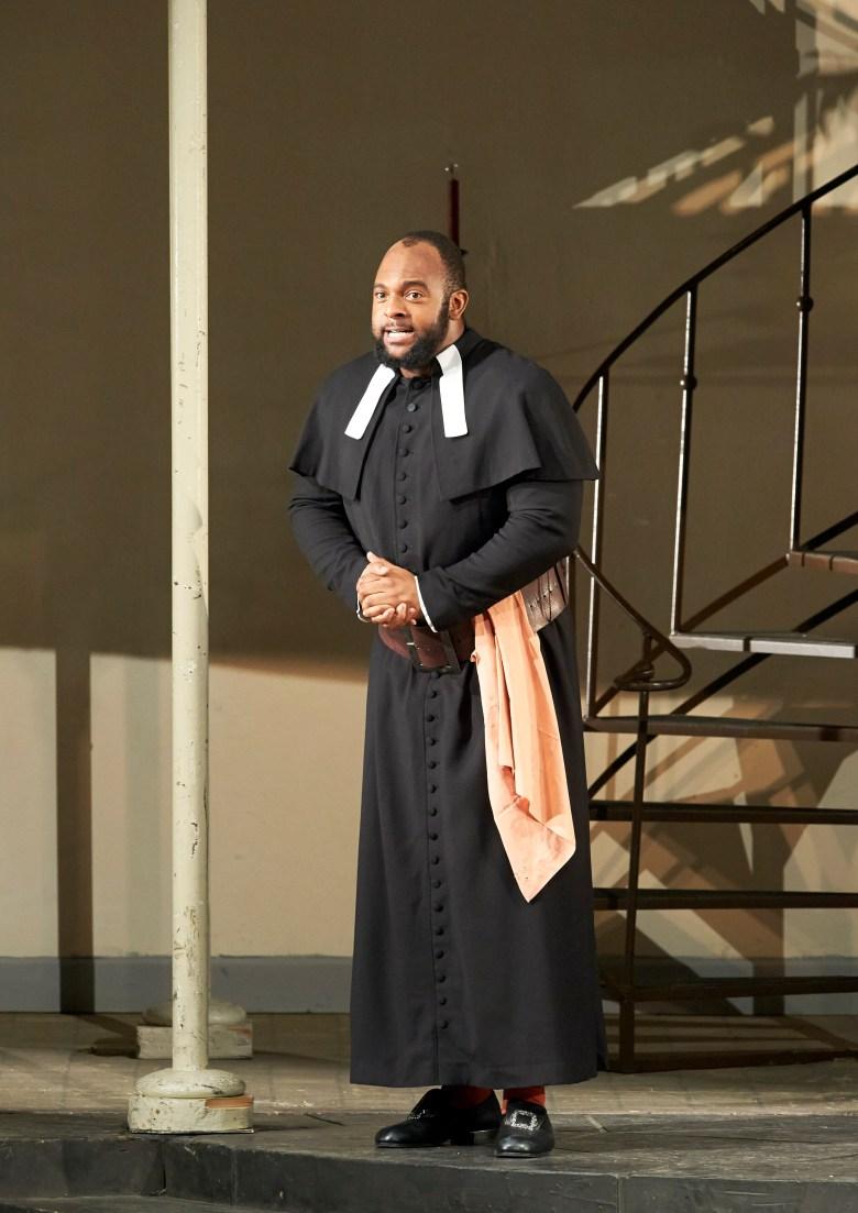 Ryan Speedo Green as Don Basilio in Il Barbiere di Siviglia, a play by Gioachino Rossini.