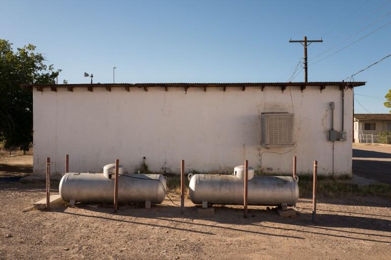 Propane tanks are the primary fuel source in Presidio, Texas.