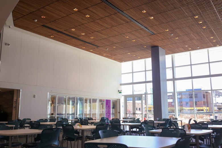 A newly added cafeteria is prominently featured near the entrance to Children's Hospital San Antonio.