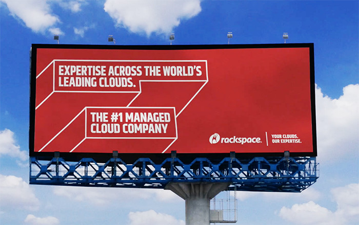 A new Rackspace billboard. Photo courtesy of Rackspace.