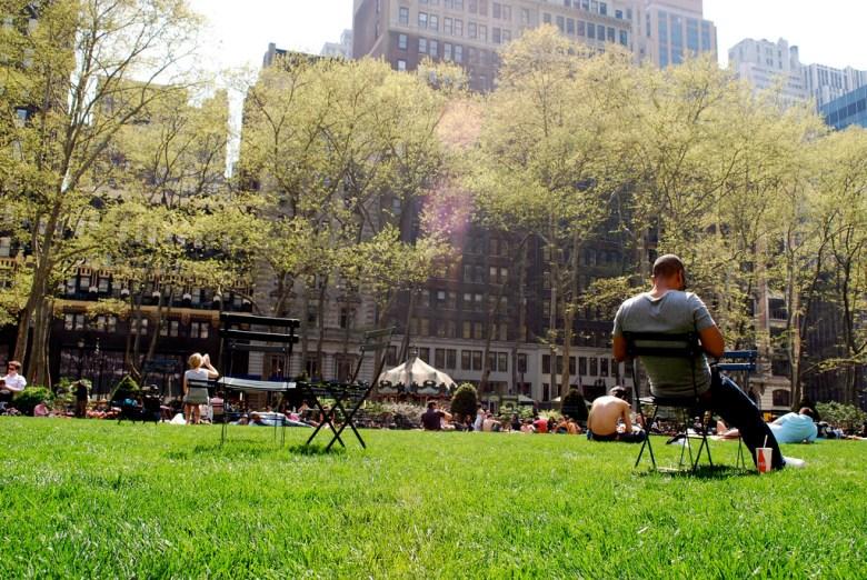 New York's Bryant Park. Photo by Laura Bittner via Flickr.