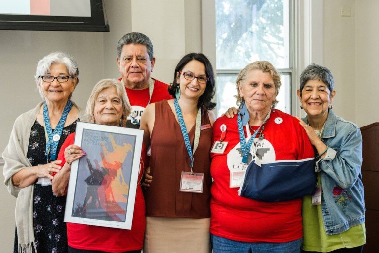 "Community members celebrated the 50th Anniversary of the 1966 Farmworkers Strike and March with ""La Cosecha,"" at Our Lady of the Lake University."