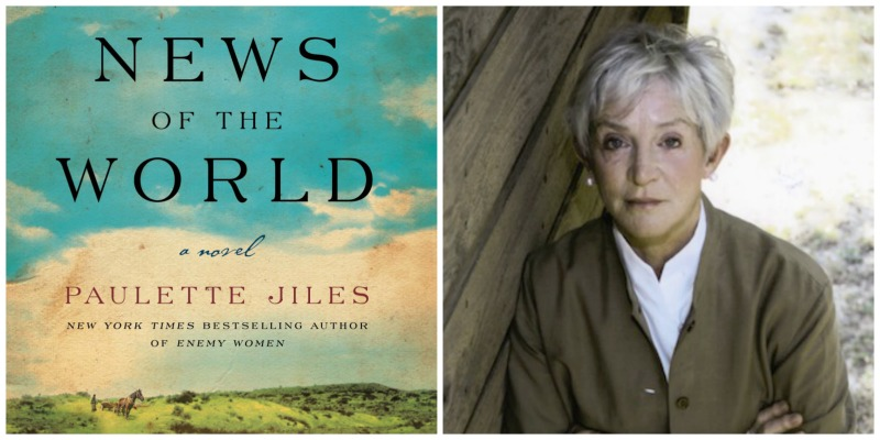 "Paulette Jiles' novel ""News of the World"" will be released on Tuesday, Oct. 4. aulette Jiles' novel ""News of the World"" will be released on Tuesday, Oct. 4. Photo on right by Jill Gann."